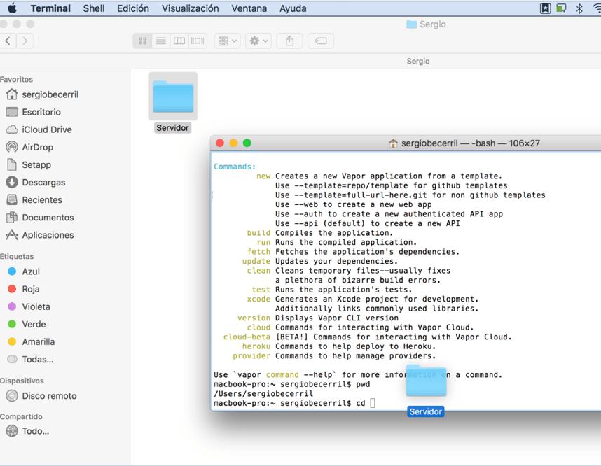 Vapor el Framework para usar Swift en un servidor4