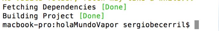 Vapor el Framework para usar Swift en un servidor8