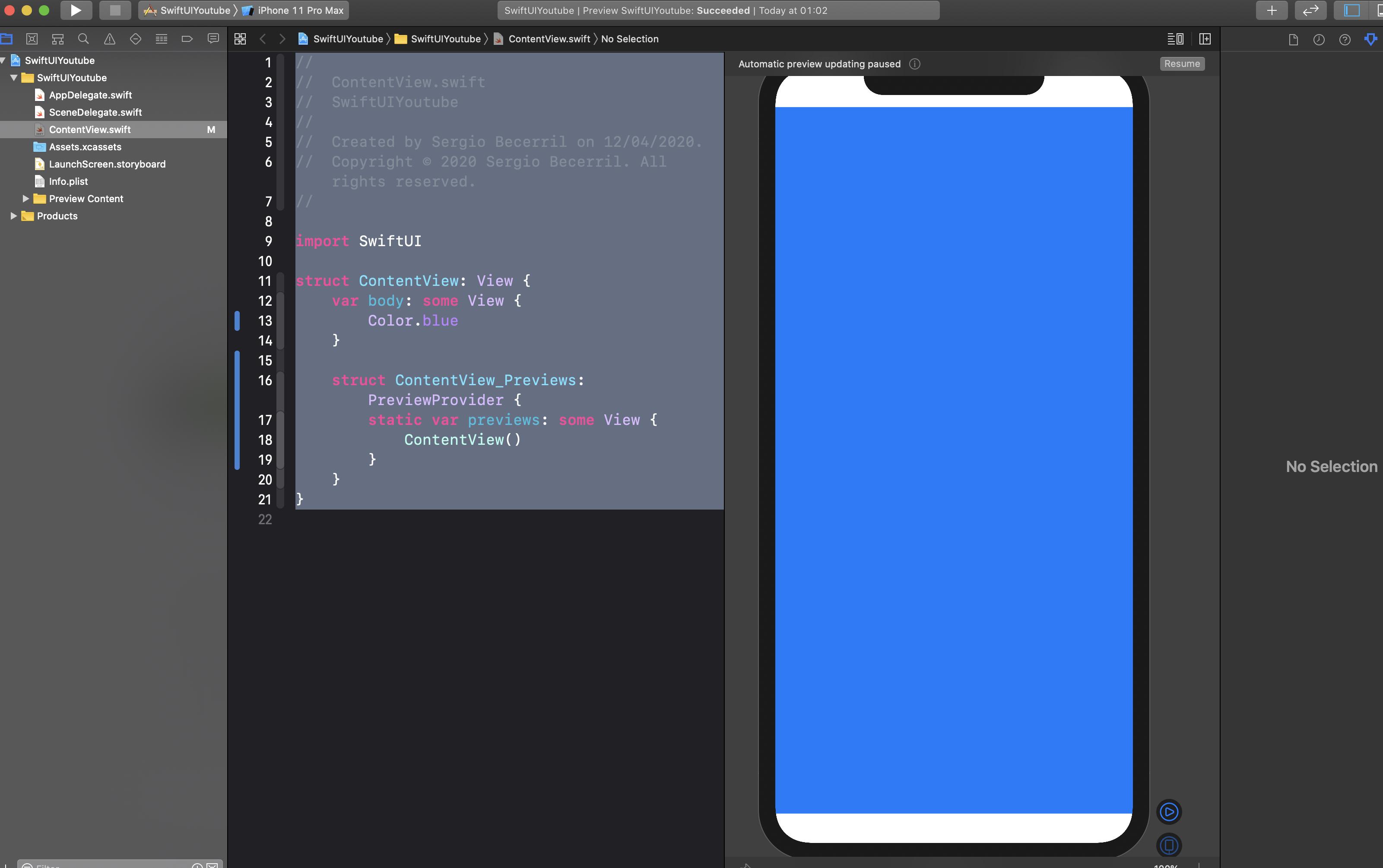 Cómo cambiar el color de fondo de una vista en SwiftUI