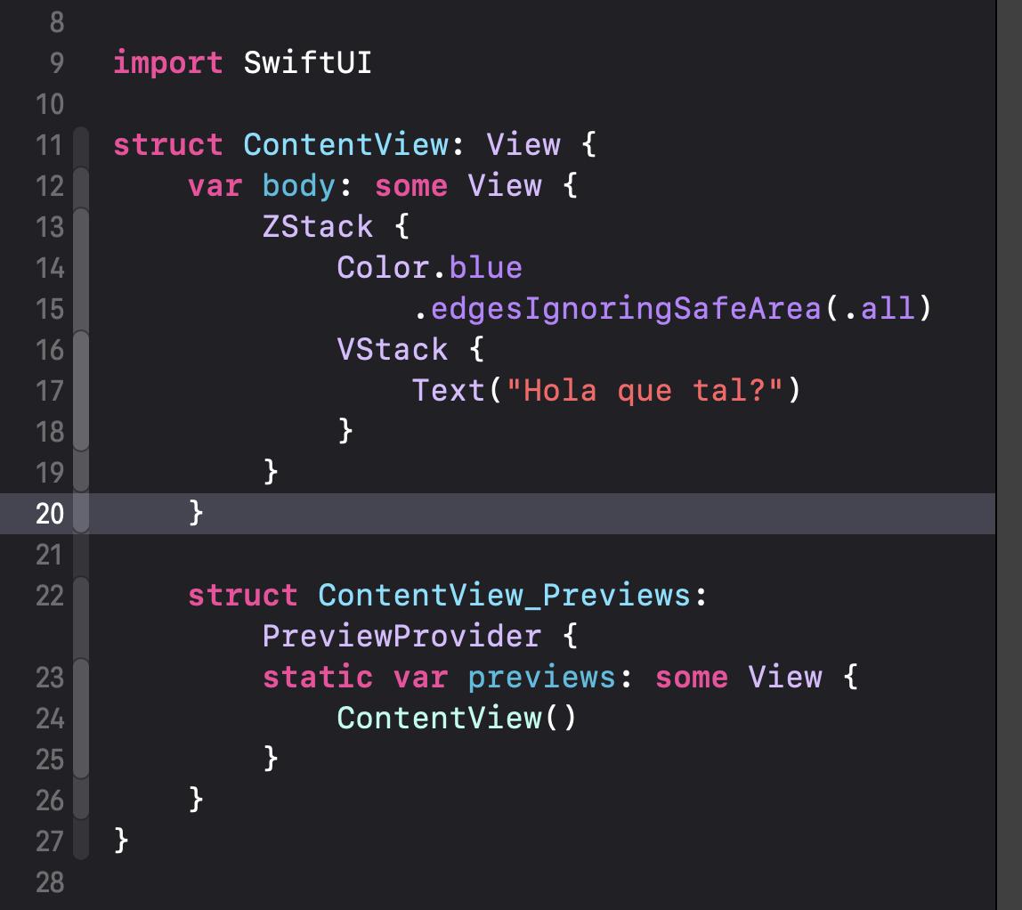 Cómo cambiar el color de fondo de una vista en SwiftUI5